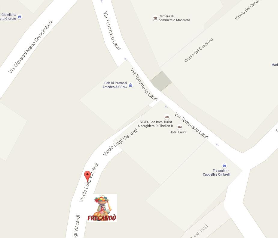 CONTATTI: indicazioni stradali per Frecandò, vicolo Luigi Viscardi, 10 - 62100 - Macerata